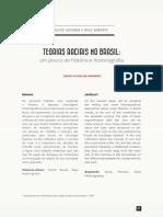 Teorias Raciais No Brasil. Um Pouco de História e Historiografia