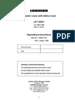 LR 1350 Operating Instructions