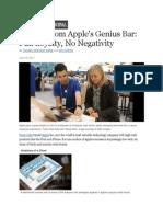 Secrets From Apples Genius Bar - Full Loyalty No Negativity