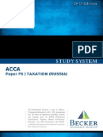 Acca Atc f6 Taxation Russia Study System 2013