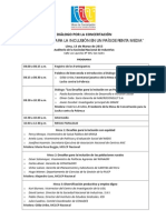 Programa Final Dialogo Por La Concertación Los Desafóíos Para La Inclusión en Un País de Renta Media