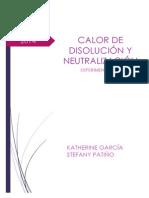 Informe Experimento Nº 1 Calor de Disolución y Neutralización
