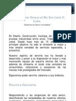 Expertos en acero inoxidable -Corporacion General de Servicio CGS