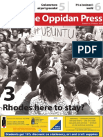 The Oppidan Press - Edition 3 - 2015