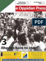 The Oppidan Press - Edition 3 - 2015