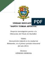 Monografia La Desnutricion en Riobamba-Ecuador