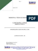 Memorial Técnico Descritivo - Iluminação e Força