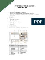 Funciones básicas Analizador de espectros