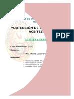 Obtención de Bio Disel de Aceites