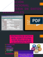 REGULACIÓN INTERNACIONAL EN MATERIA DE DATOS PERSONALES.