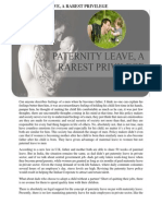 Paternity Leave, A Rarest Privilege to Indian Men