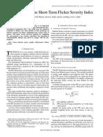 Computation of the Short-term Flicker Severity Index