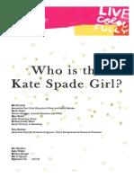 Kate Spade New York Brand Audit