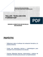 Taller EVAL Formativa Para Directivos Encuadre Con Cartas Descriptivas
