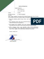 Pakta & Surat Pernyataan