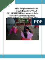 Proyecto Gimnasio Para La Com Unidad Neftali Martines.