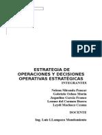 Estrategia de Operaciones y Decisiones Operativas Estratégicas