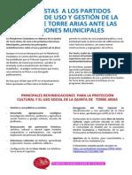Comunicado Elecciones Municipales - Plataforma vecinal Quinta de Torre Arias