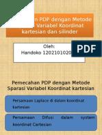 Pemecahan PDP Dengan Metode Sparasi Variabel Koordinat Silinder