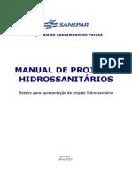 Sanepar - Manual Proj Hidrosanitário