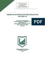 Diseño de Un Portico de Tres Niveles Con Sap 2000 v15