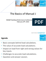 Basics of Manual J RESNET 2014