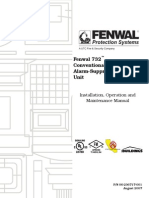 Fenwal 732™ Conventional Fire Alarm-Suppression Control Unit Install