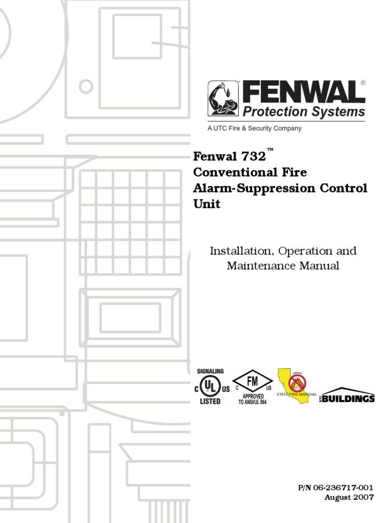 Fenwal Smoke Alarm Wiring Diagram Data Alarms Together 732 Conventional Fire Suppression Control Unit Install Rh Scribd Com Detector Detectors