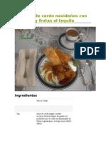 Tamal de Cerdo Con Especias y Frutas Al Tequila