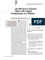 A High Efficiency Doherty Amplifier With DPD for WiMAX
