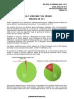 Módulo de Lectura (MOLEC) febrero de 2015