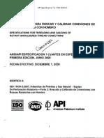 5.Especificaciones Para Roscar y Calibrar Conexiones de Roscas Rotarias Con Hombro