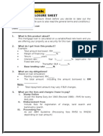 Product Disclosure Sheet