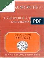 Jenofonte - La Republica de Los Lacedemonios Ed. Bilingue