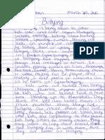 sopharina bullying essay
