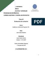 Quiros Laura Tarea 1 3089 (Auditoria de Proyectos Tic)