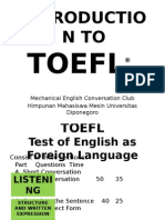 INTRODUCTION TO TOEFL®