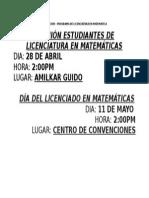 Reunión Estudiantes de Matemáticas