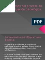 Fases Del Proceso de Evaluación Psicológica Diagramas