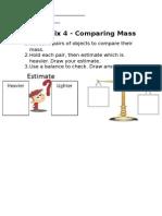 comparing mass work sheet