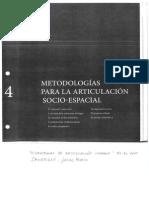 Metodologias Para La Articulacion Socio-espacial