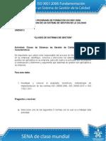 Actividad de Aprendizaje Unidad 2 Clases de Sistemas de Gestion Sena