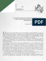 Apuntes para el estudio crítico de la obra historiográfica del profesor Nestor Meza Villalobos