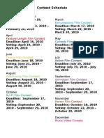 Contest Schedule