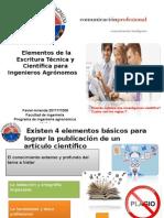 Elementos de La Escritura Técnica y Científica Para Ingenieros Agrónomos
