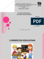 Corrientes Educativas y Panorama Actual Educativo Ultimo