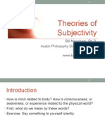 Theories of Subjectivity