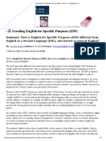 Teaching English for Specific Purposes (ESP) - Articles - UsingEnglish