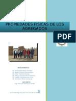 Informe de Agregados para concreto