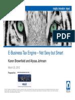Brown Field e Business Tax Not Sexy but Smart